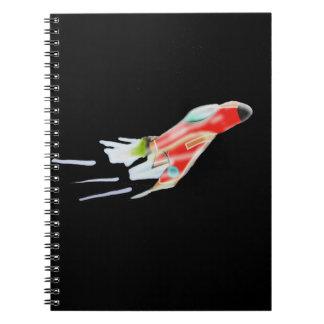 Spaceship Spiral Note Book