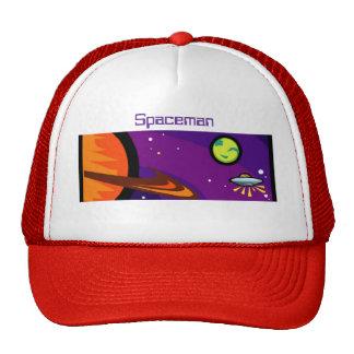 Spaceship to Saturn Trucker Hat
