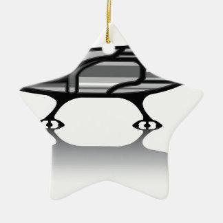 Spaceship vector ceramic star decoration