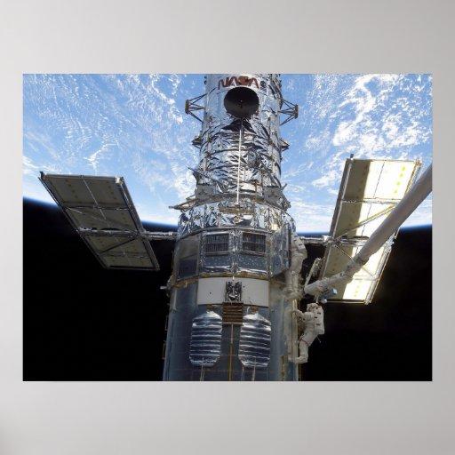Spacewalk & Hubble Telescope (STS-109) Poster
