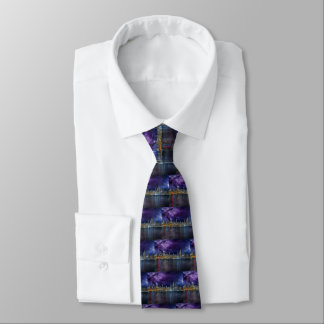 Spacey Chicago Skyline Tie