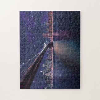 Spacey Manhattan Skyline Jigsaw Puzzle