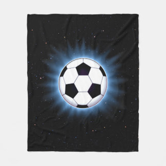 Spacey Soccer Ball Fleece Blanket