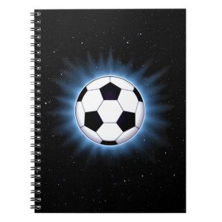 Spacey Soccer Ball Notebook