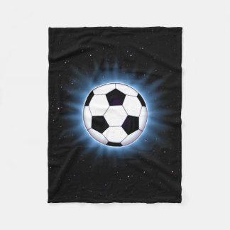 Spacey Soccer Ball Small Fleece Blanket
