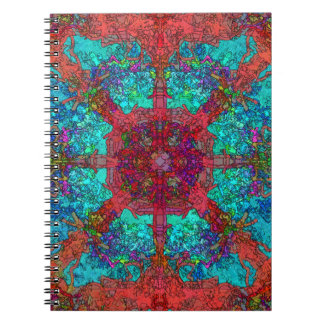 Spacey Trippy Hippy Surrealist Image Spiral Notebook