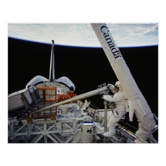 Spacwalk aboard Space Shuttle Columbia STS-87 Print