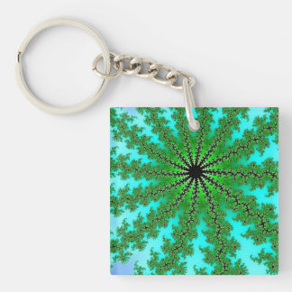 Spacy Art Double-Sided Square Acrylic Key Ring