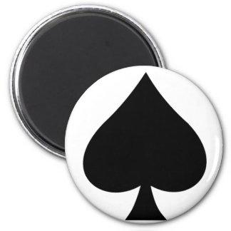 spade 6 cm round magnet