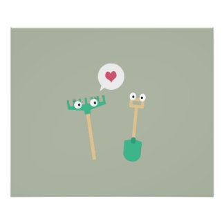 Spade and  Rake in love Photographic Print