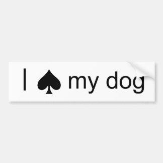 Spade Dog Bumper Stickers