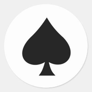 Spade Round Sticker