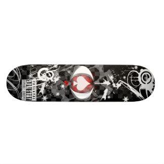 Spade & Skulls Custom Skate Board