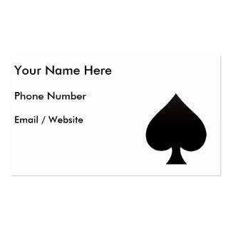 Spade - Suit of Cards Icon Business Cards