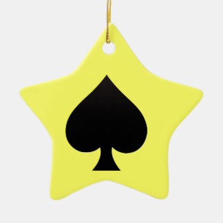 Spade - Suit of Cards Icon Christmas Ornament