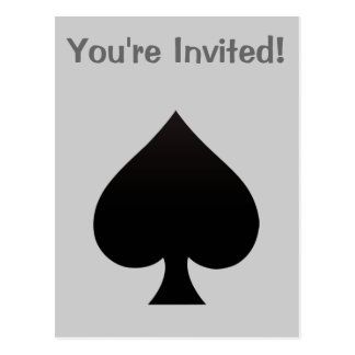 Spade - Suit of Cards Icon Postcard