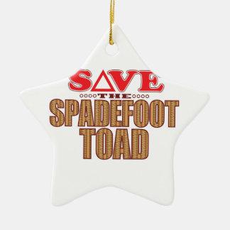Spadefoot Toad Save Ceramic Star Decoration