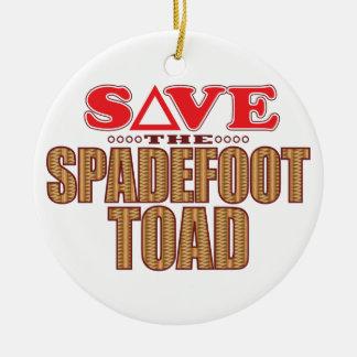 Spadefoot Toad Save Round Ceramic Decoration
