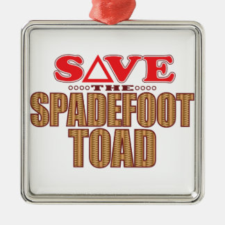 Spadefoot Toad Save Silver-Colored Square Decoration