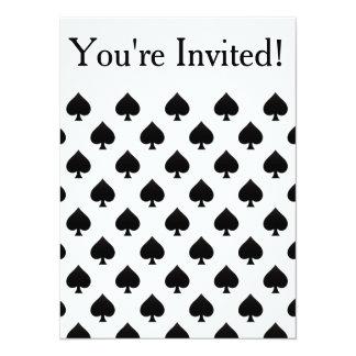 Spades Pattern Custom Invite