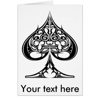 Spades, Your text here Greeting Card