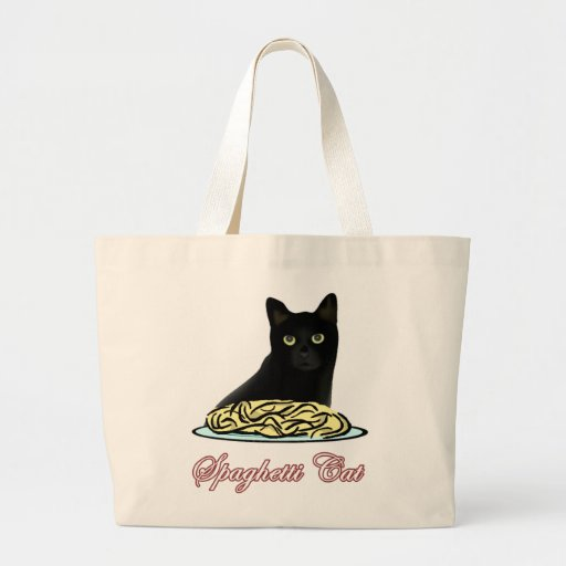 Spagehetti Cat Eloquence Tote Bags