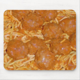 Spaghetti and Meatballs Mouse Pads