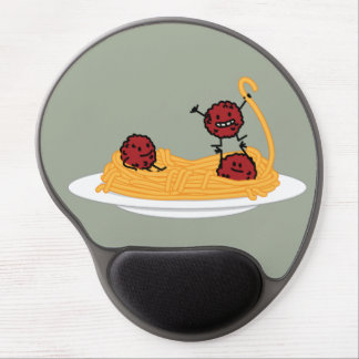 Spaghetti and meatballs pasta noodles Italian food Gel Mouse Mat