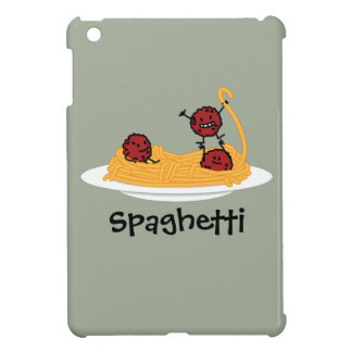 Spaghetti and meatballs pasta noodles Italian food iPad Mini Case