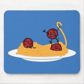 Spaghetti and meatballs pasta noodles Italian food Mouse Pad