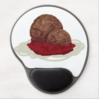 Spaghetti And Meatballs With Sauce Gel Mouse Mats