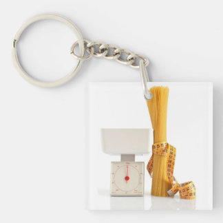 spaghetti and scale Single-Sided square acrylic key ring
