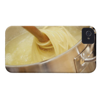 Spaghetti Being Stired in Pot iPhone 4 Cases