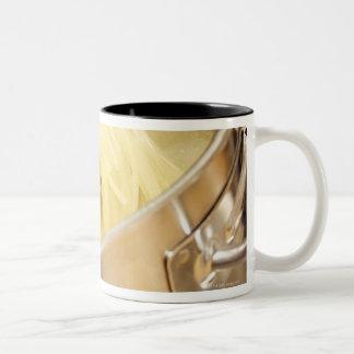 Spaghetti Being Stired in Pot Two-Tone Coffee Mug