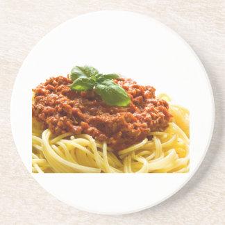 """""""Spaghetti Bolognese"""" design round coasters"""