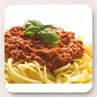 """""""Spaghetti Bolognese"""" design square coasters"""