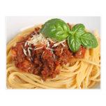 Spaghetti bolognese post cards