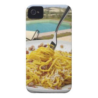 Spaghetti Carbonara iPhone 4 Case-Mate Cases