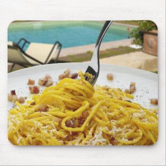Spaghetti Carbonara Mouse Pad