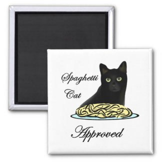 Spaghetti Cat Approved Magnet
