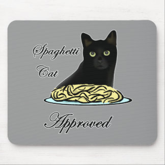Spaghetti Cat Approved Mouse Pad