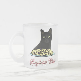 Spaghetti Cat Eloquence Frosted Glass Mug