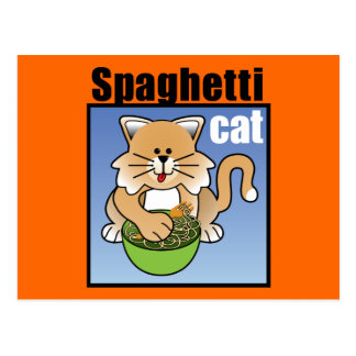 Spaghetti Cat Frenzy Postcard