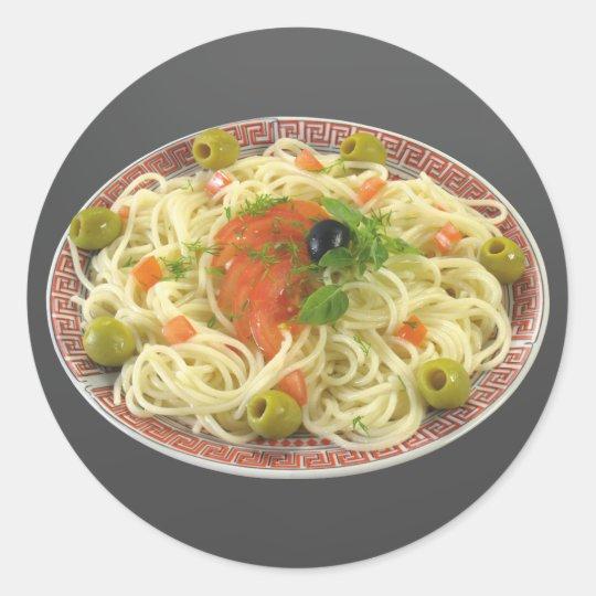 Spaghetti Classic Round Sticker