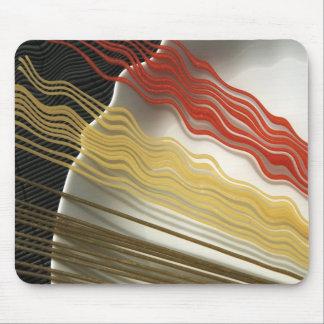 Spaghetti design mouse pad