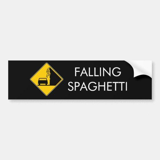Spaghetti Falls Out Bumper Sticker
