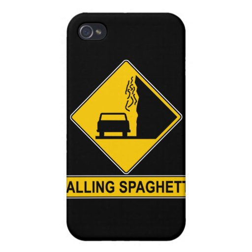 Spaghetti Falls Out iPhone 4 Cases