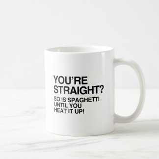 SPAGHETTI IS STRAIGHT UNTIL YOU HEAT IT UP.png Basic White Mug