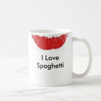 spaghetti kiss, I Love Spaghetti Basic White Mug