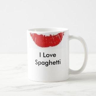 spaghetti kiss, I Love Spaghetti Mug